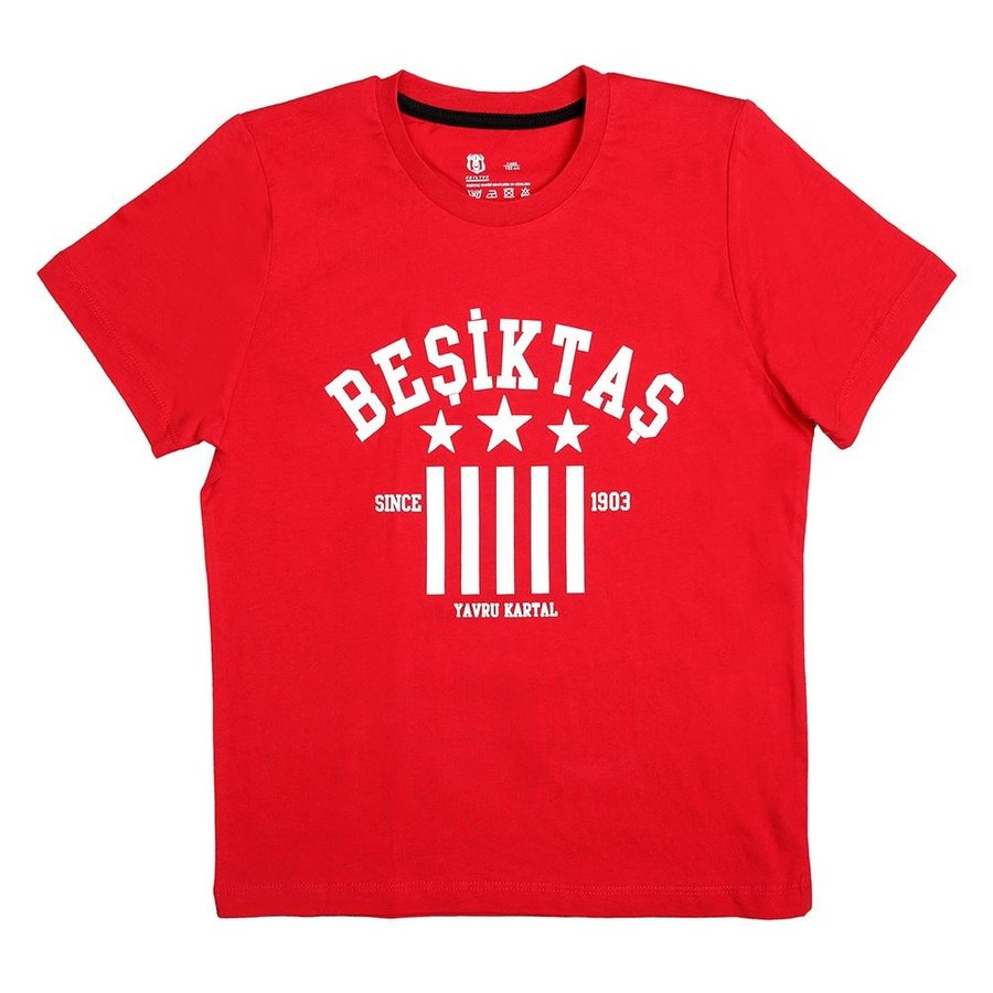Beşiktaş T-Shirt Kinderen Y19-134 Rood