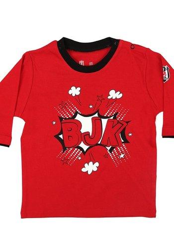 Beşiktaş Baby Langarmshirt K18-118 Rot