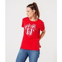 BEŞİKTAŞ LOGO KADIN T-SHIRT 8920125 Kırmızı