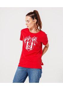 Beşiktaş Logo T-Shirt Pour Femmes 8920125 Rouge