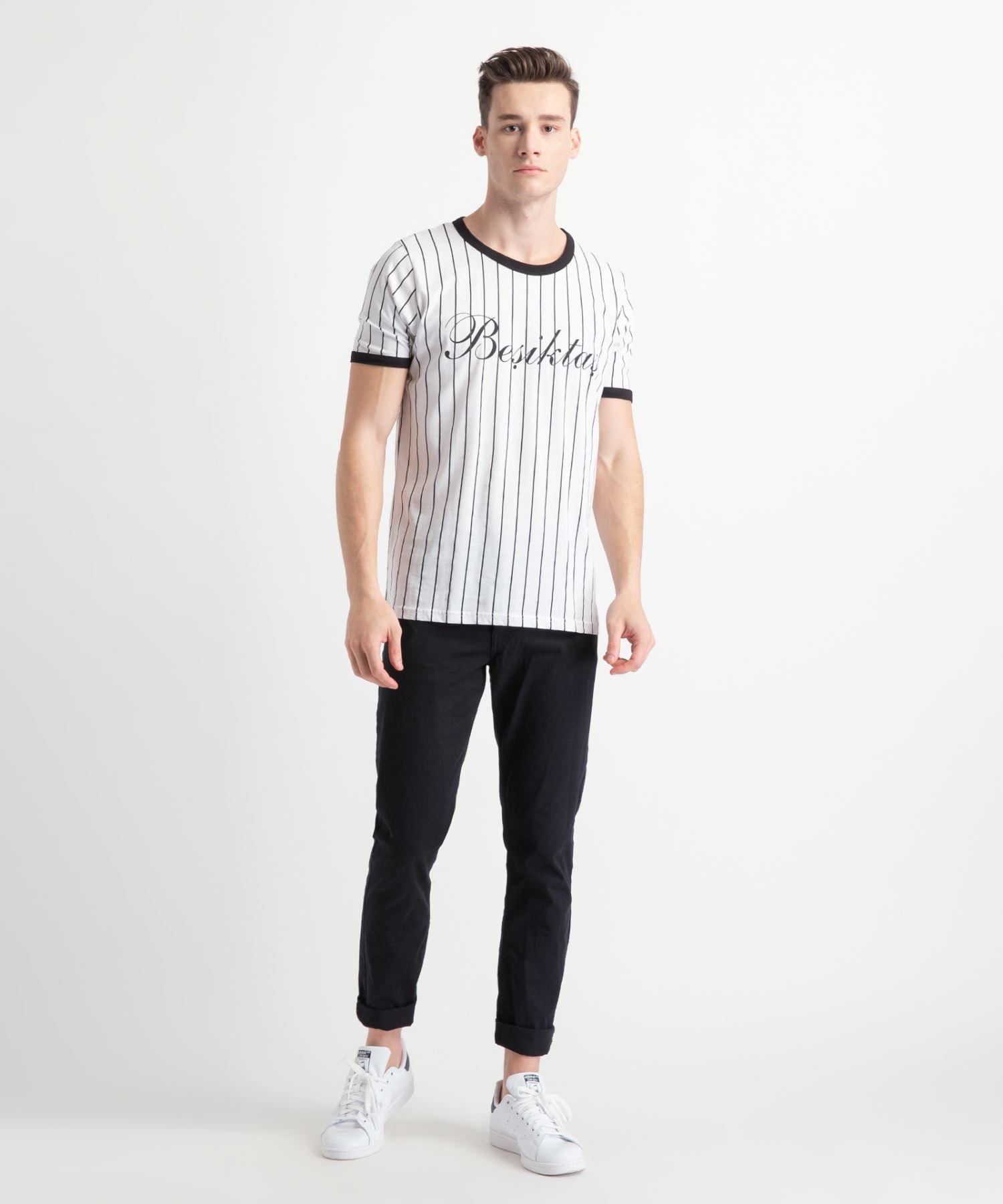 check out 12559 2a9af Beşiktaş Modern College T-Shirt Herren 7919121 Weiss