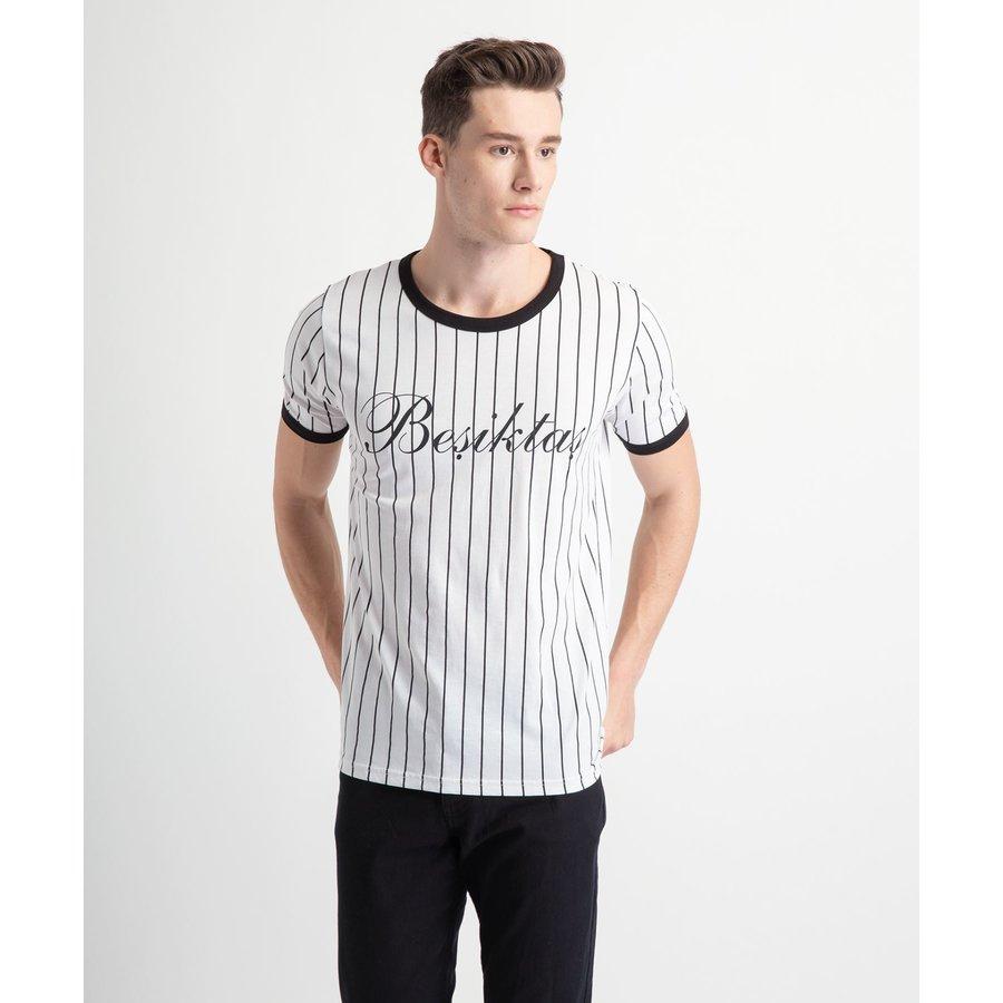 Beşiktaş Modern College T-Shirt Heren 7919121 Wit