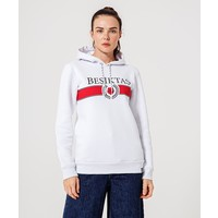 Beşiktaş Womens Statement Hooded Sweater 8920236 White