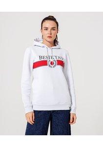 Beşiktaş Womens Statement Hooded Sweater 8920236 White