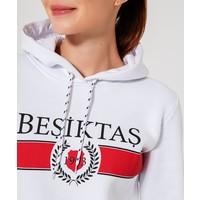 BEŞİKTAŞ STATEMENT KADIN KAPÜŞONLU SWEATSHIRT 8920236 Beyaz