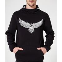 Beşiktaş Mens 3D Eagle Hooded Sweater 7920232