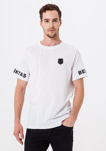 Beşiktaş Mens Sleeve Print T-Shirt 7920109 White