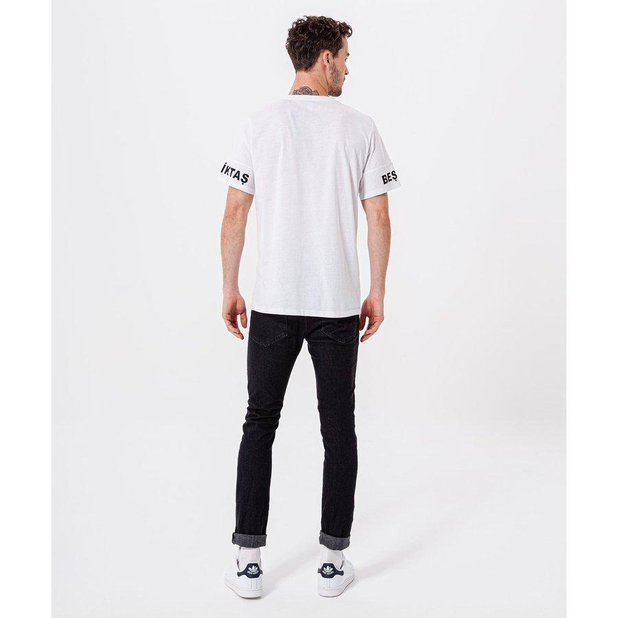 Beşiktaş Sleeve Print T-Shirt Herren 7920109 Weiss