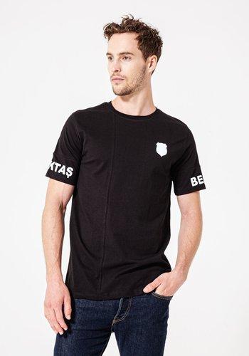 Beşiktaş Sleeve Print T-Shirt Herren 7920109 Schwarz