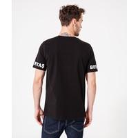 Beşiktaş Mens Sleeve Print T-Shirt 7920109 Black