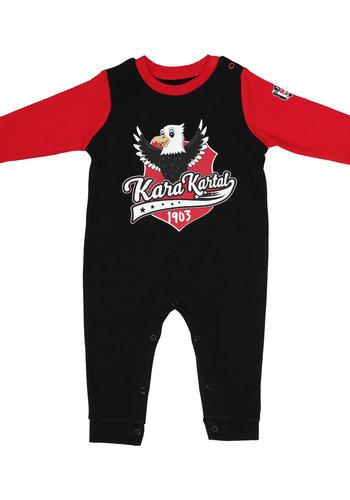 Beşiktaş Babystrampler K19-119 Schwarz-Rot