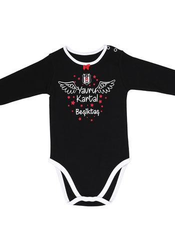 Beşiktaş Mädchen Baby Langarmbody K19-106