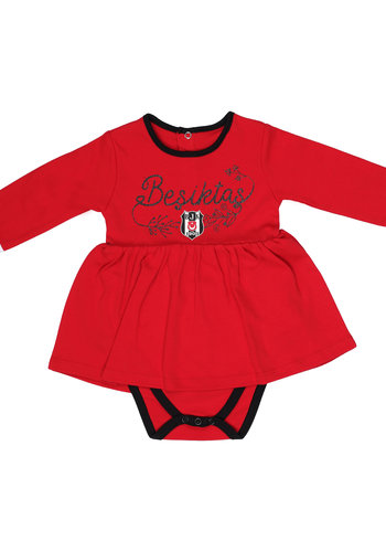 Beşiktaş Body Bébé-filles manches longues K19-108 Rouge