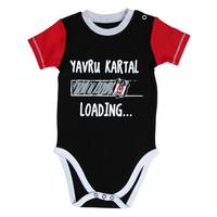 Beşiktaş Baby Kurzarmbody Y20-106 Schwarz