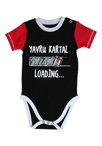 Beşiktaş Baby Body korte mouwen Y20-106 Zwart