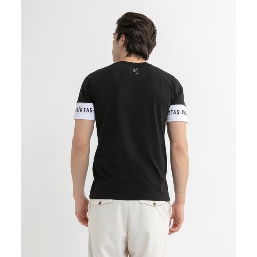 Beşiktaş Mens Sleeve Print T-Shirt 7020110