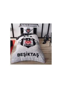 Beşiktaş Eenpersoons Beddengoedset BRF Grey