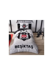 Beşiktaş Single Bed Clothes Set BRF Grey
