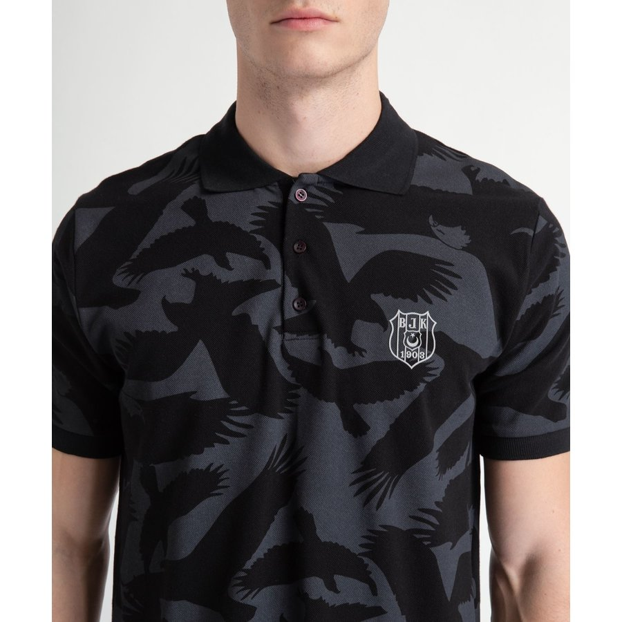 Beşiktaş All Over Eagle Polo T-Shirt Heren 7919151