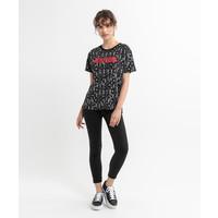 Beşiktaş Womens Feather All Over T-Shirt 8020132 Black