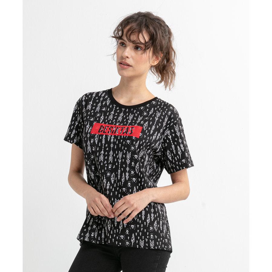Beşiktaş  Feather All Over T-Shirt Pour Femmes 8020132 Noir