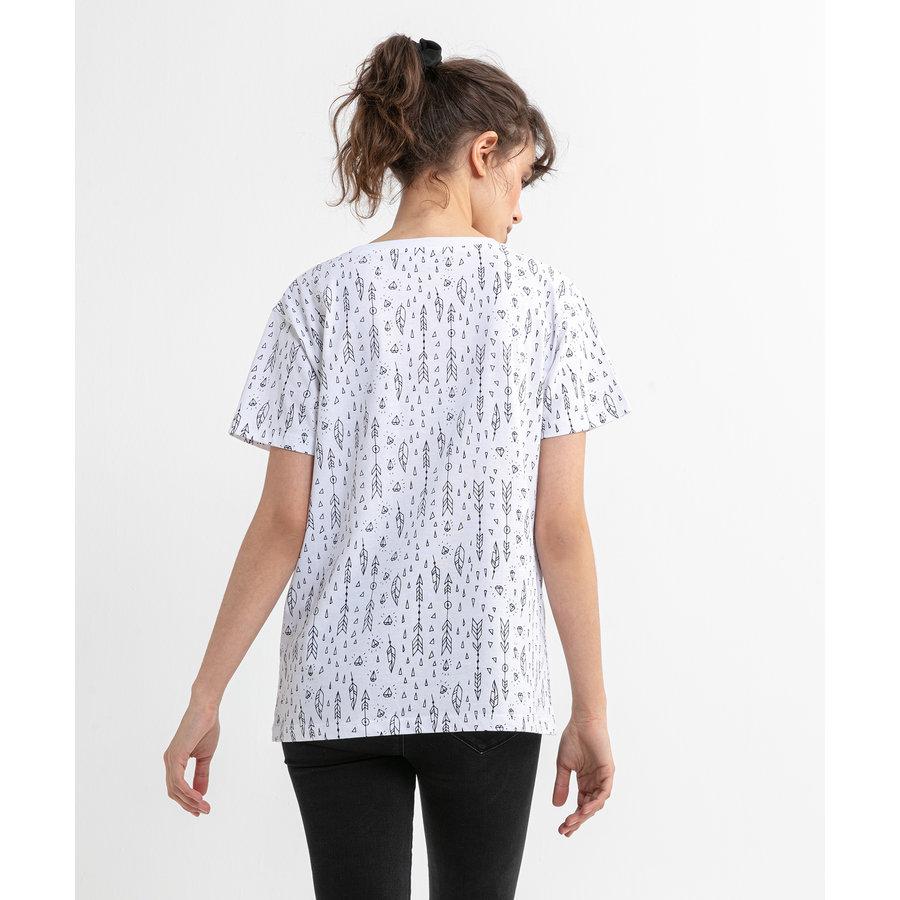 Beşiktaş  Feather All Over T-Shirt Pour Femmes 8020132 Blanc