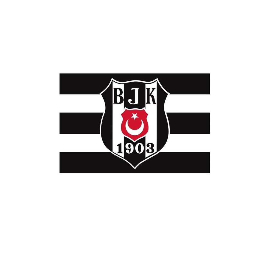 Beşiktaş BJK Fahne mit Logo 70*105