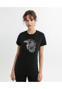 Beşiktaş Womens Eagle Sketch T-Shirt 8020135 Black