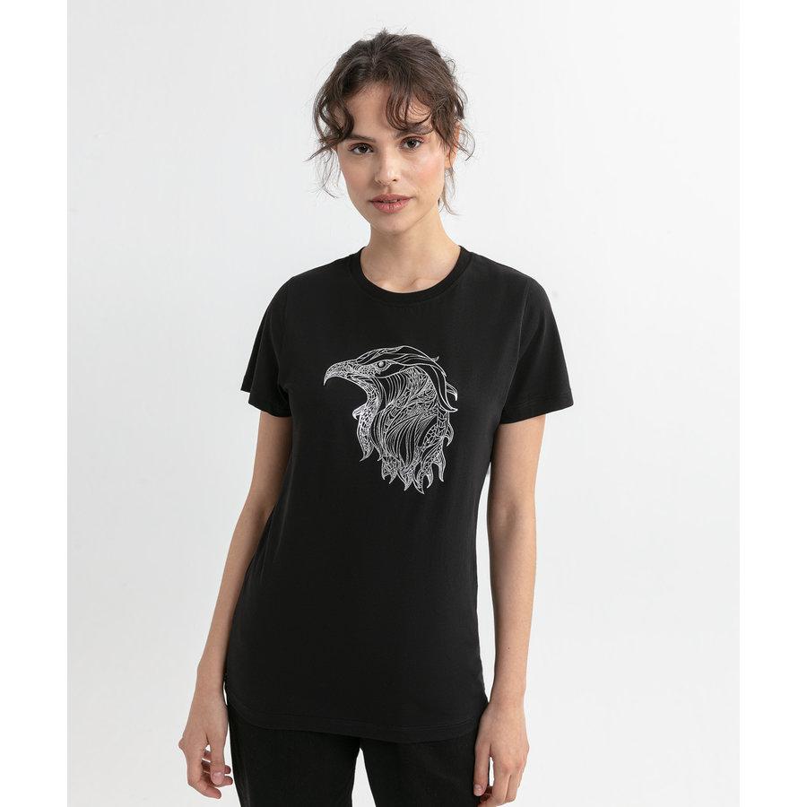Beşiktaş Eagle Sketch T-Shirt Damen 8020135 Schwarz