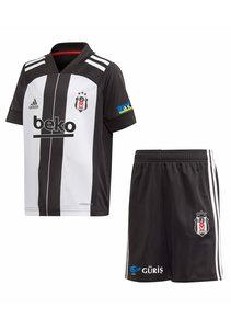 adidas Beşiktaş Mini Set Maillot à rayures verticales 20-21