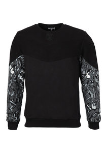 Beşiktaş Feather Sleeve Print Sweater Heren 7021202
