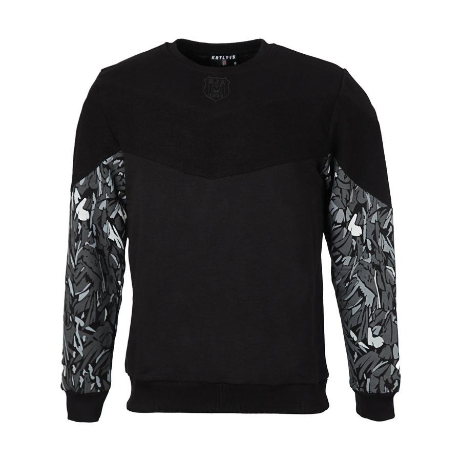 Beşiktaş Feather Sleeve Print Sweater Heren 7021202