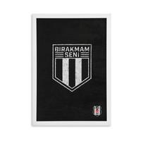 Beşiktaş Geweven Wandbord 'Bırakmam Seni'