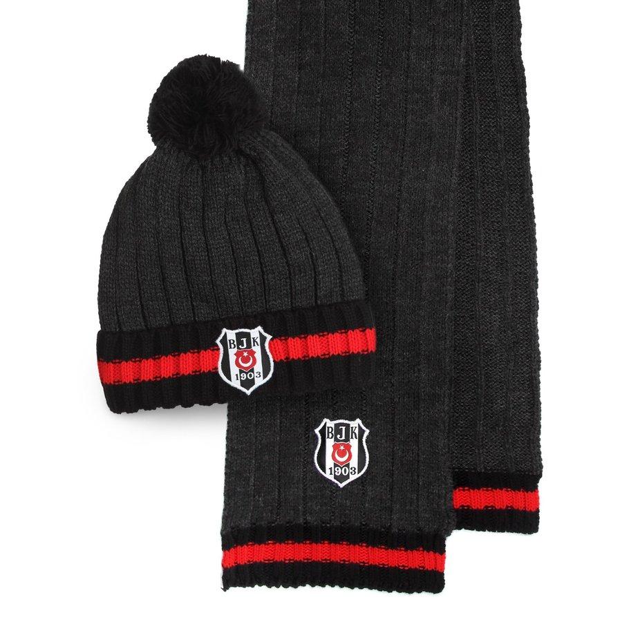 Beşiktaş Set Sjaal Muts Unisex 03