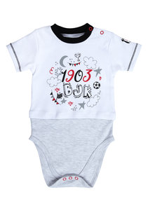 Beşiktaş Short Sleeved Baby Body Y20-108 White