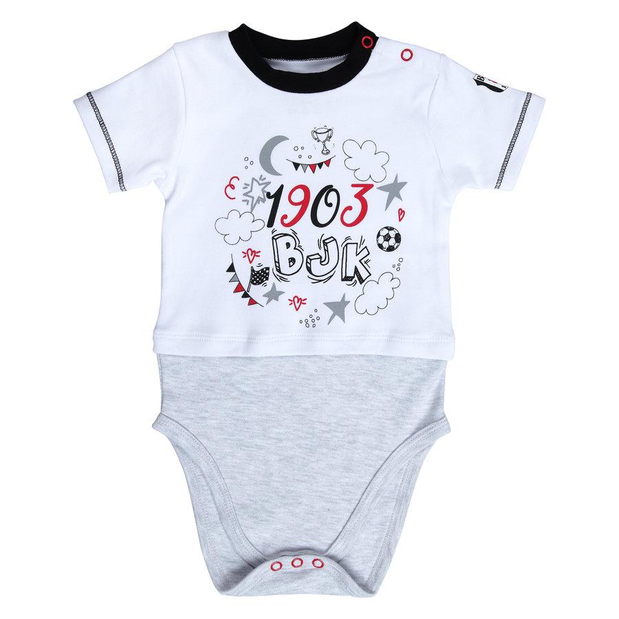 Beşiktaş Baby Kurzarmbody Y20-108 Weiss