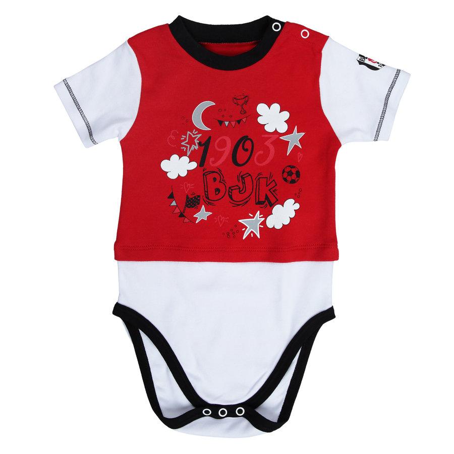 Beşiktaş Baby Kurzarmbody Y20-108 Rot
