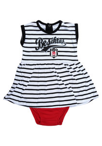 Beşiktaş Girls Baby Short Sleeved Body Y20-110 White