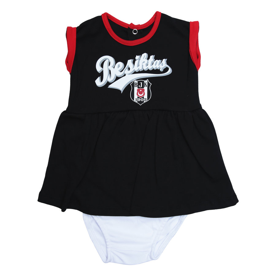 Beşiktaş Girls Baby Short Sleeved Body Y20-110 Black