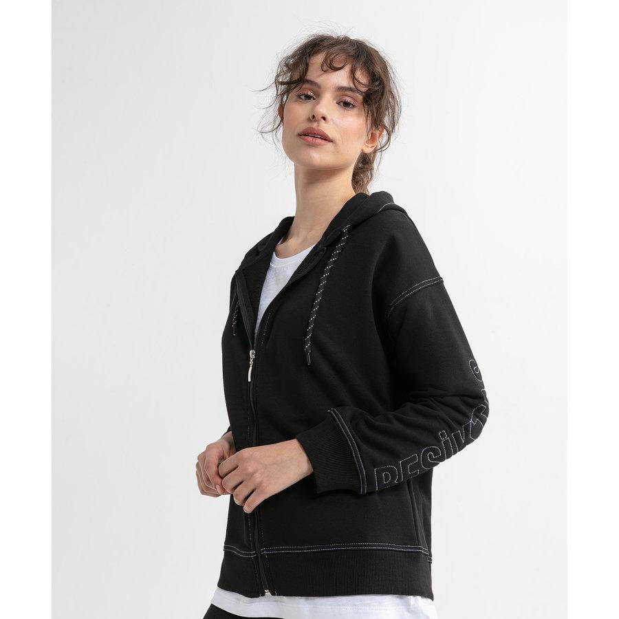 Beşiktaş Arm Hooded Sweater met Rits Dames 8020208