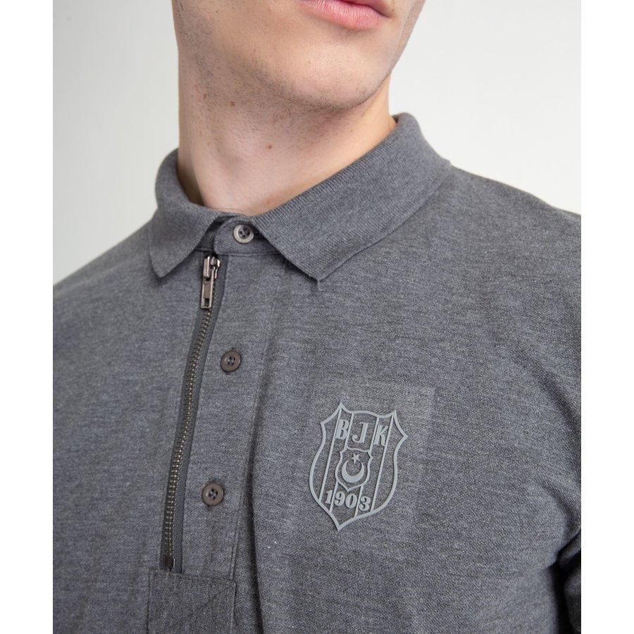Beşiktaş Polo T-Shirt mit Reissverschlus Herren 7818156