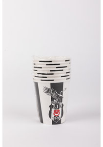 Beşiktaş licensed paper cup 220/240 cc - 8 pcs
