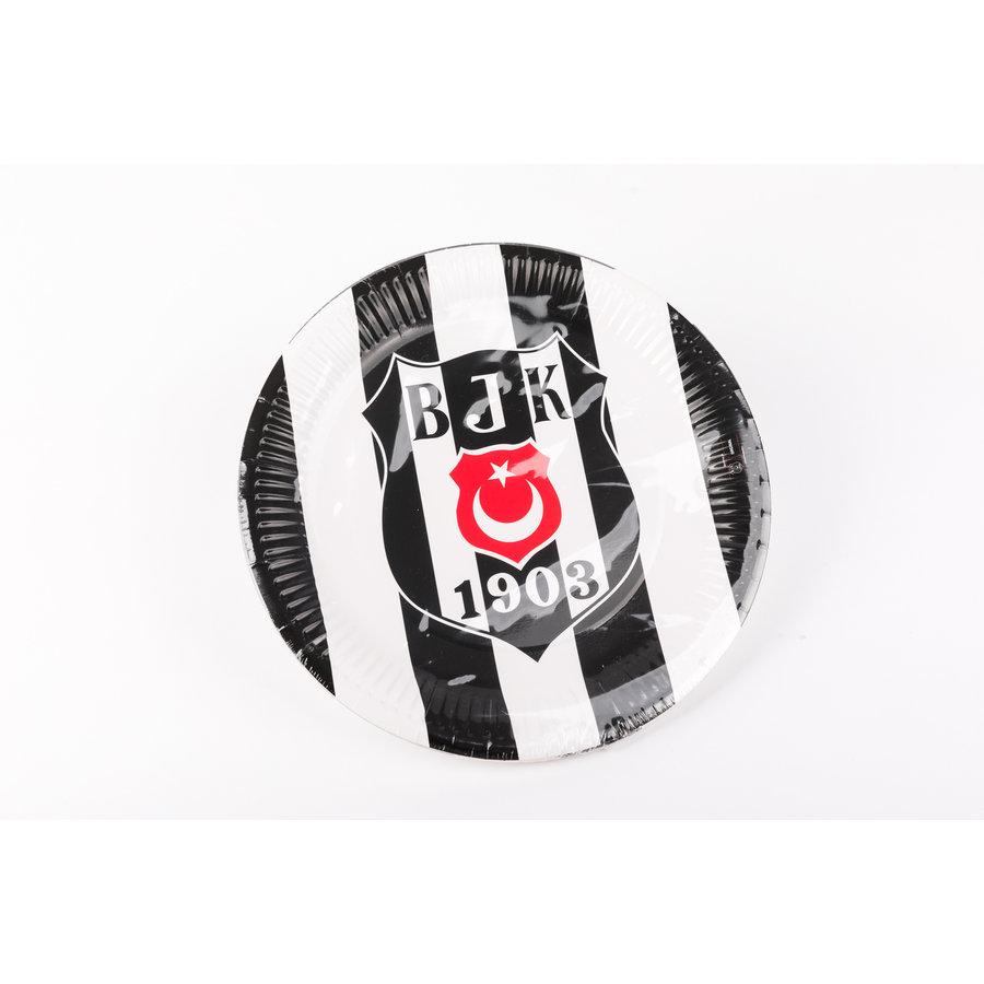 Beşiktaş licensed paper plate 23 cm - 8 pcs
