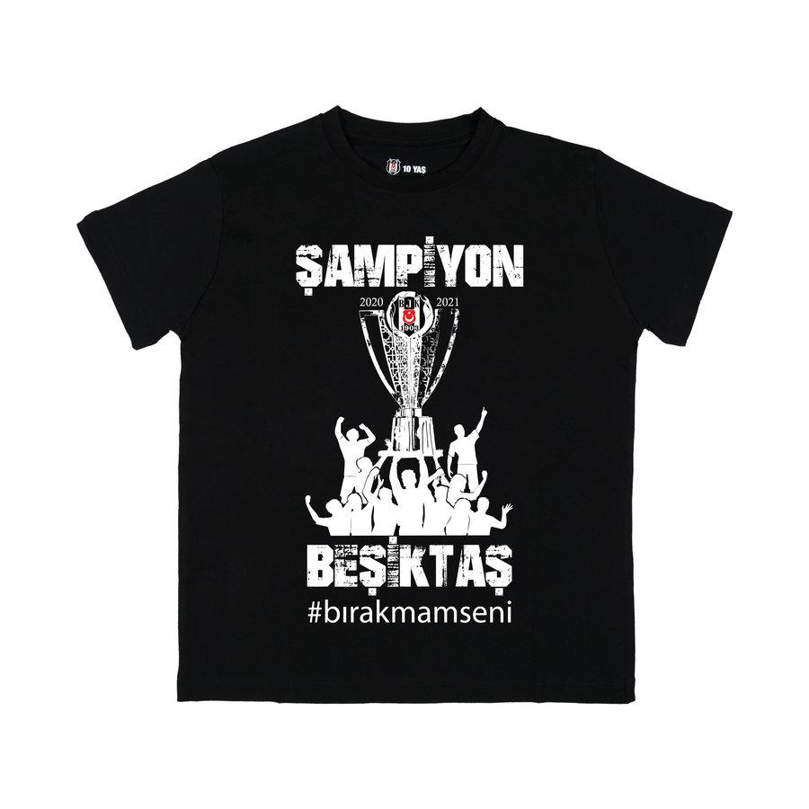 Beşiktaş 2020-2021 Kampioenschap T-Shirt Kinderen