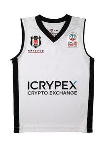 Beşiktaş Basketball Trikot Kinder Weiss 20-21