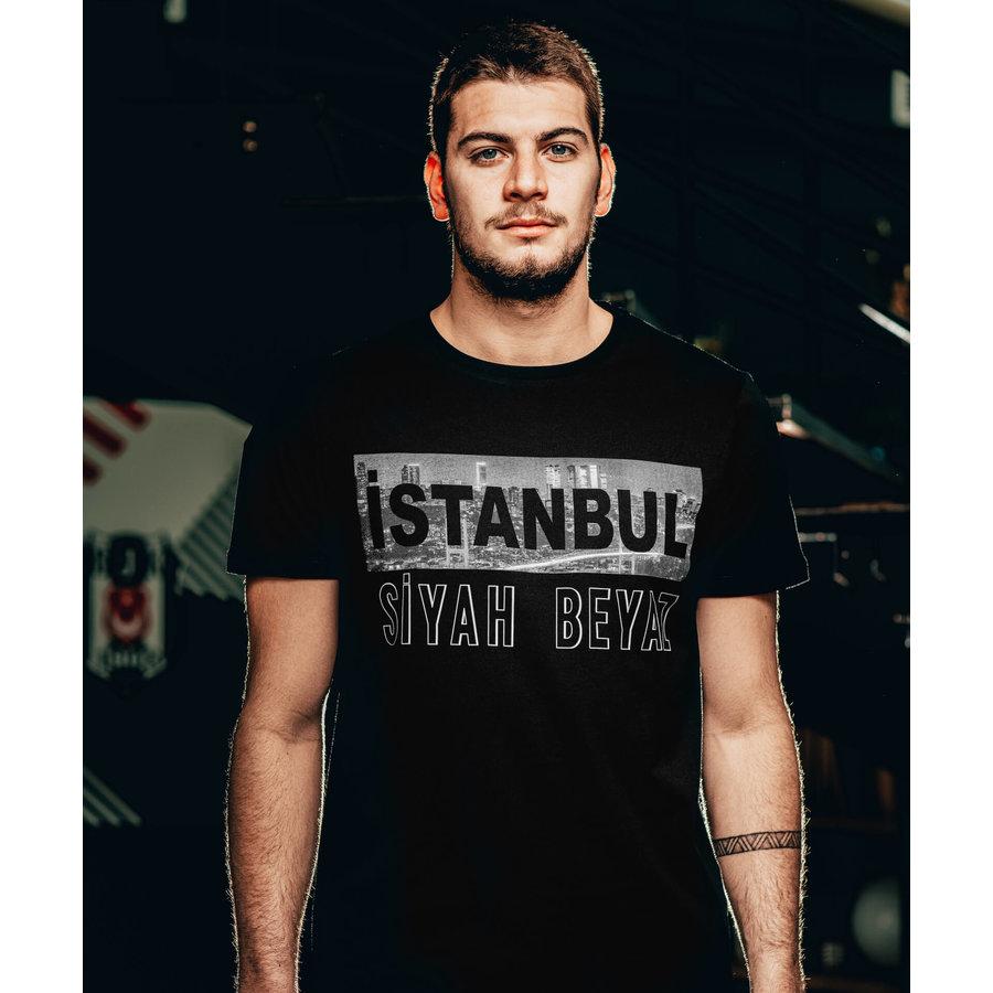 Beşiktaş Mens 'İstanbul Siyah Beyaz' T-Shirt
