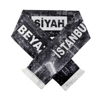 Beşiktaş Satijnsjaal 'İstanbul Siyah Beyaz'