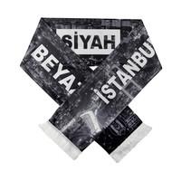 Beşiktaş Satin Schal 'İstanbul Siyah Beyaz'