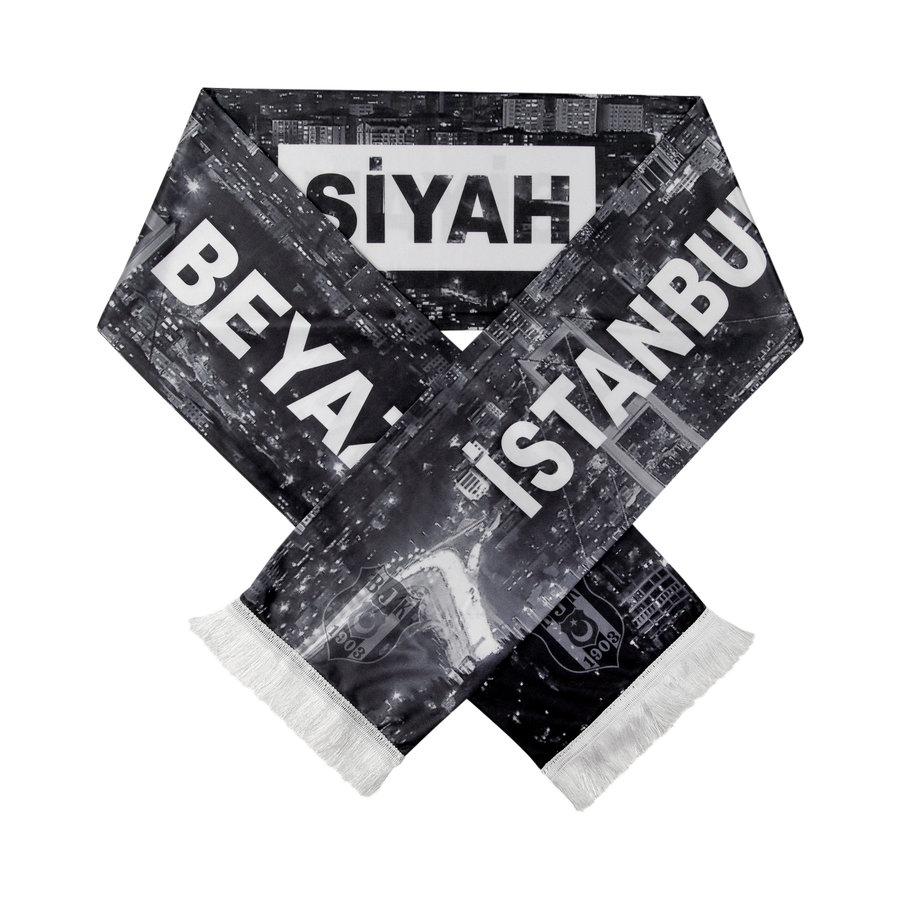 Beşiktaş Satin Scarf 'İstanbul Siyah Beyaz'
