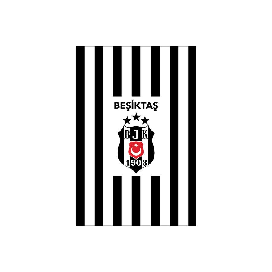 Beşiktaş Gestreept vlag 200*300